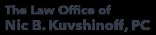 The Law Office of Nic B. Kuvshinoff, PC. Logo